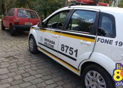 Brigada Militar recupera veículo furtado no Humaitá em Bento
