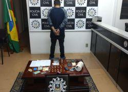Homem é preso por tráfico de drogas em Bento