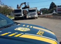 Caminhão é flagrado com mais de seis toneladas de excesso de peso na BR-470 em Garibaldi