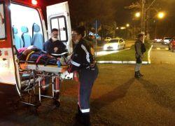 Mulher fica ferida em acidente no São Roque em Bento