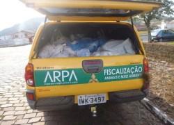 Arpa realiza operação na cidade de Paraí