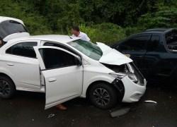 Acidente deixa dois feridos na Serra das Antas em Bento