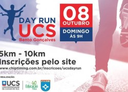 UCS Day Run ocorre no domingo em Bento