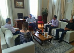 Comitiva de São Pedro se reúne com prefeito Pasin em Bento