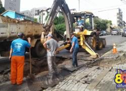 Chuva causa danos no bairro Progresso em Bento