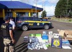 Homem é preso pela PRF ao ser flagrado pela terceira vez com mercadorias ilegais do Paraguai