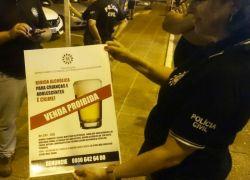 Operação coíbe consumo de bebidas alcoólicas a menores em Atlântida