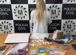 Polícia Civil prende mulher por tráfico de drogas em Vacaria