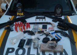 Casal é preso com armas e drogas em Guaporé