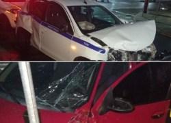 Colisão no centro de Bento deixa duas pessoas com ferimentos leves