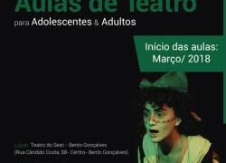 Teatro do Sesc Bento Gonçalves recebe aulas de teatro