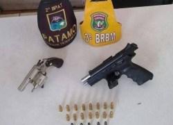 Casal que levava armas de fogo e munição em viagem de carro é preso na ERS-030, em Tramandaí