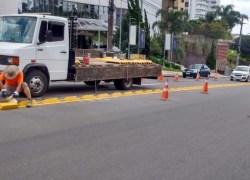Sinalização é reforçada na 13 de Maio em Bento