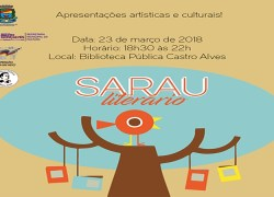 Biblioteca pública promove Sarau Literário de outono em Bento