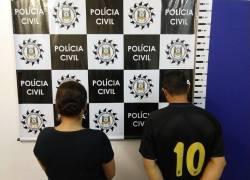 DEFREC de Caxias prende casal integrante de facção e apreende três armas