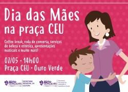 Praça CEU sedia evento alusivo ao Dia das Mães em Bento