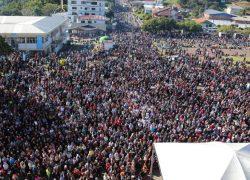 Cerca de 145 mil fiéis participam da 139ª Romaria ao Santuário de Caravaggio em Farroupilha