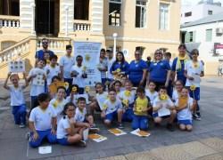 Ação da Campanha Faça Bonito ocorre no centro de Bento