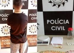 Polícia Civil prende homem por tráfico de drogas e posse de arma em Farroupilha