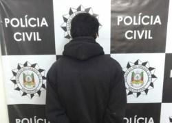 Jovem é preso após cometer vários furtos e roubos em Farropilha