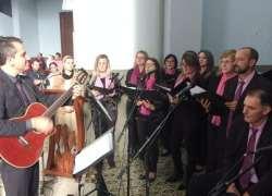 Coro Caminhos de Faria Lemos canta no Santuário de Caravaggio