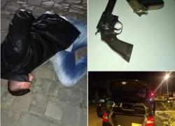Brigada Militar de Garibaldi prende homem, recupera veículo e apreende armas após roubo em Bento