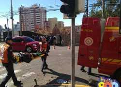 Acidente deixa duas pessoas feridas no centro de Bento