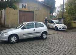 Automóvel com registro de furto é recuperado em Bento