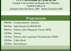 Seminário sobre 'Legislação Previdenciária Rural' ocorre em Bento