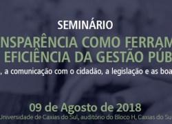 UCS promove seminário sobre transparência na gestão pública