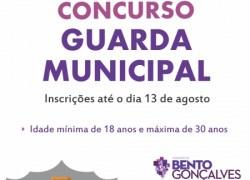 Inscrições para o Concurso Público de Guarda Civil de Prefeitura de Bento podem ser feitas até dia 13