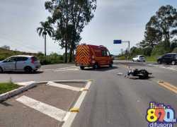 Motociclista fica ferida em acidente na Rota do Sol