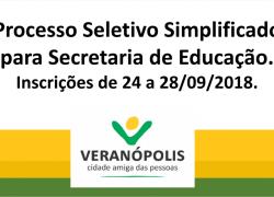 Prefeitura de Veranópolis abre inscrições para contratação de professores