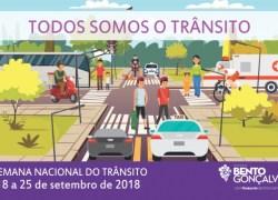 Município promove Semana de Educação para o Trânsito em Bento