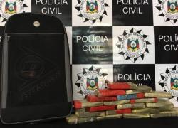 Polícia Civil apreende cerca de 15kg de maconha em Serafina Corrêa