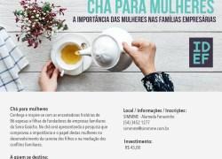 SIMMME promove Chá para mulheres de famílias empresárias em Bento