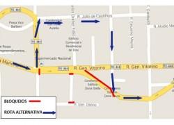 Rua Goes Monteiro será bloqueada no fim de semana em Bento