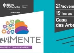 1º Movimente – Congresso do Conhecimento reúne três palestras no dia 21 em Bento