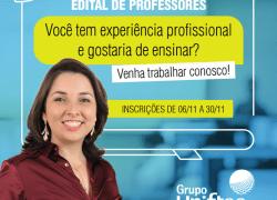 Grupo Uniftec abre edital para seleção de professores