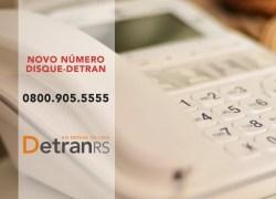 DetranRS muda número do atendimento telefônico