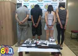 Operação da Brigada em Garibaldi e Carlos Barbosa prende quatro, apreende armas e drogas