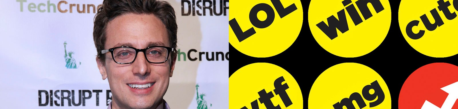 BuzzFeedの創業者ジョナ・ペレッティ氏とBuzzFeedの投票ボタン