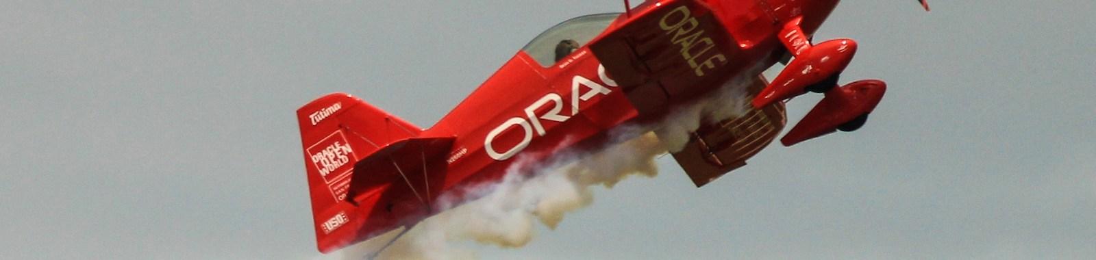 Team Oracle biplane in Dayton Airshow 2015