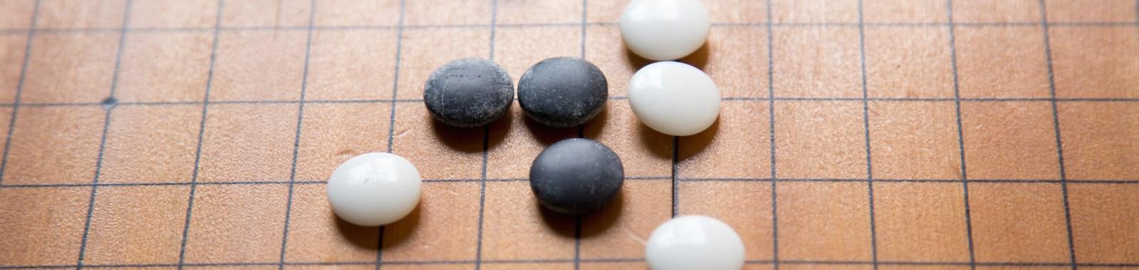 Baduk; Go game black and white stone