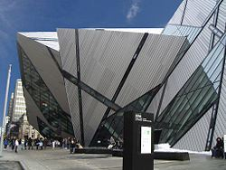 Recently opened Michael Lee-Chin Crystal, an addition to the Royal Ontario Museum.