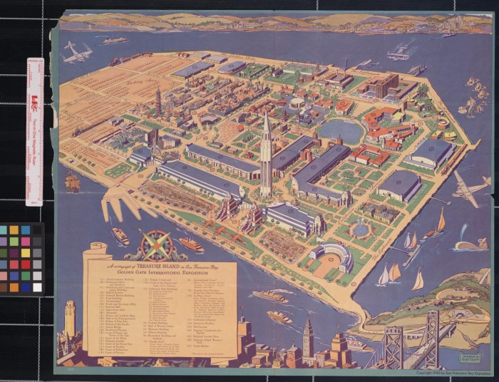 A cartograph of Treasure Island in San Francisco Bay   Golden Gate     A cartograph of Treasure Island in San Francisco Bay   Golden Gate  International Exposition