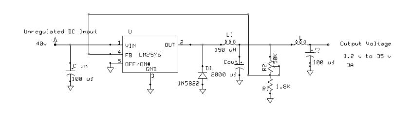 LM2576-Adjustable Buck regulator 2