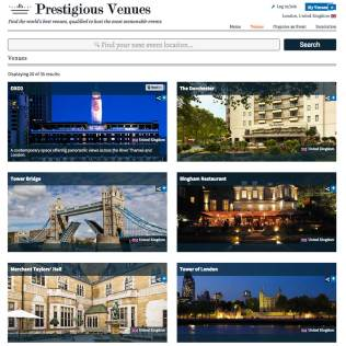 Hotel Marketing, Prestigious Venues