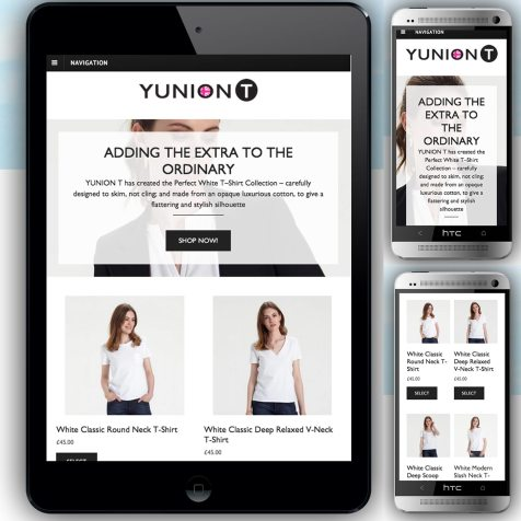 Mobile and tablet optimisation, Cross-platform web design, YUNIONT
