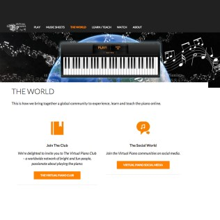 Online piano app web design, Virtual Piano